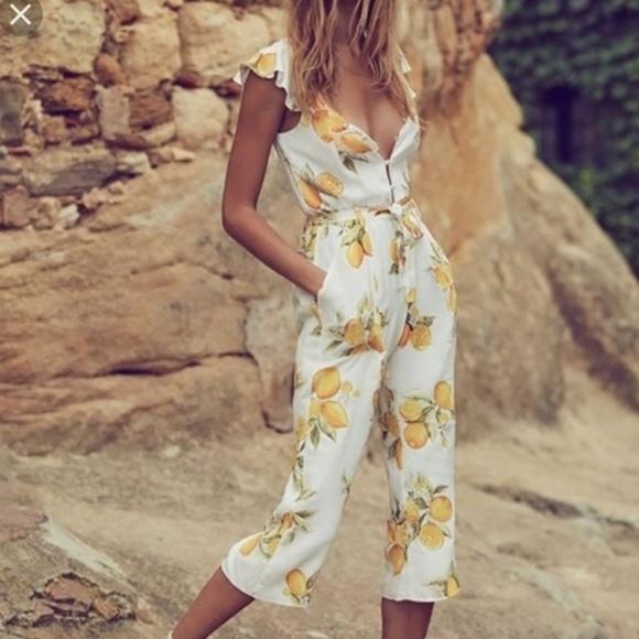 9ac18a229e29 For Love And Lemons Pants   Limonada Onesie Jumpsuit   Poshmark